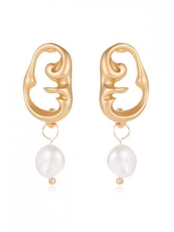 women's Faux Pearl Irregular Stud Earrings - MULTI-N