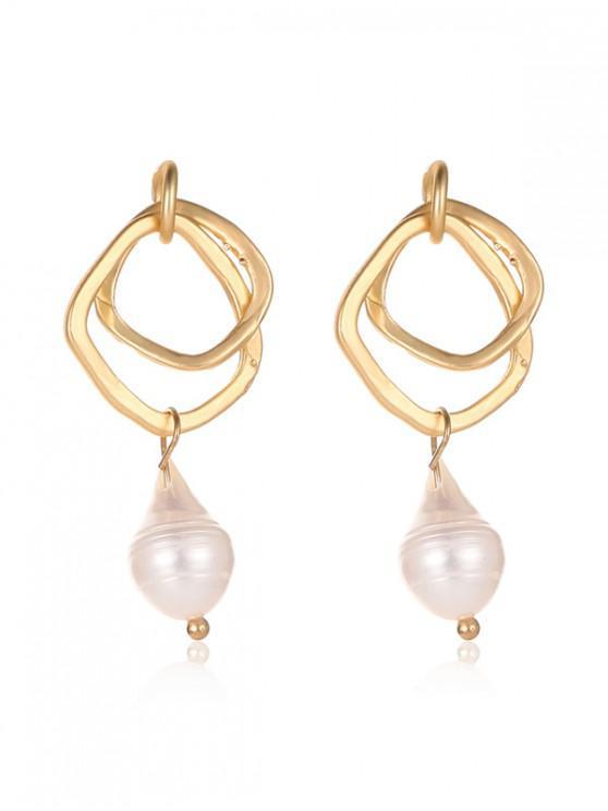 online Faux Pearl Irregular Stud Earrings - MULTI-E