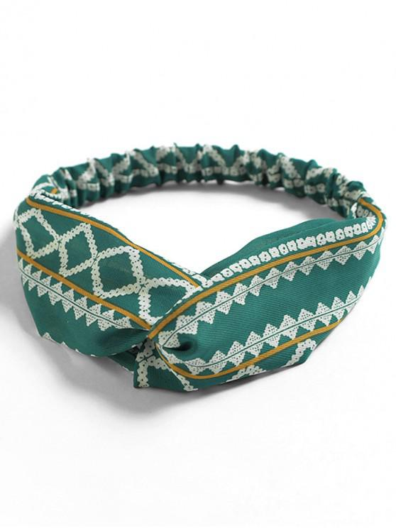 affordable Printed Decoration Elastic Headband - LIGHT SEA GREEN
