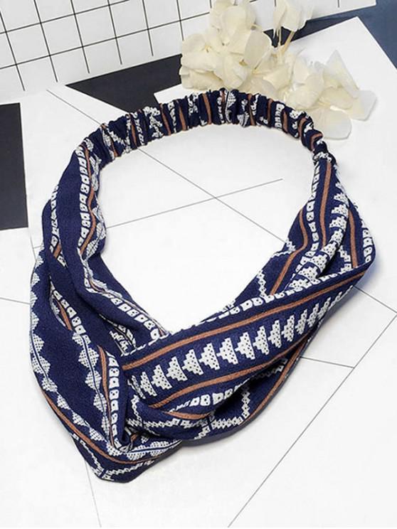 lady Printed Decoration Elastic Headband - CADETBLUE