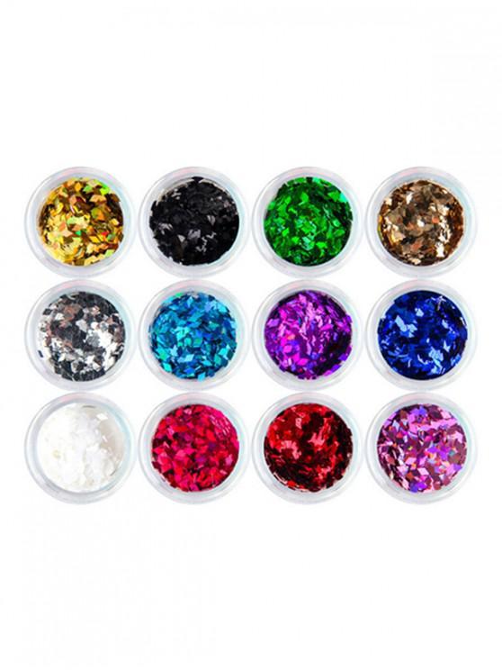 sale Glistening 12 Colors Nail Beauty Decoration - MULTI-A