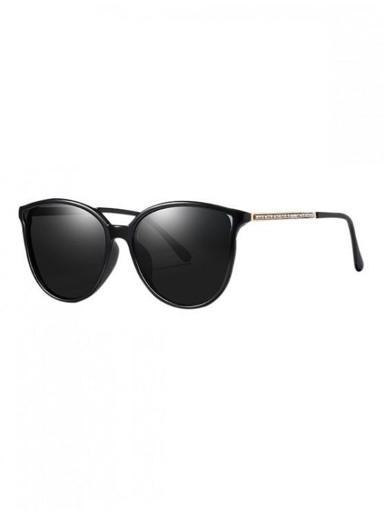outfit Rhinestone Leg Polarized Sunglasses - BLACK