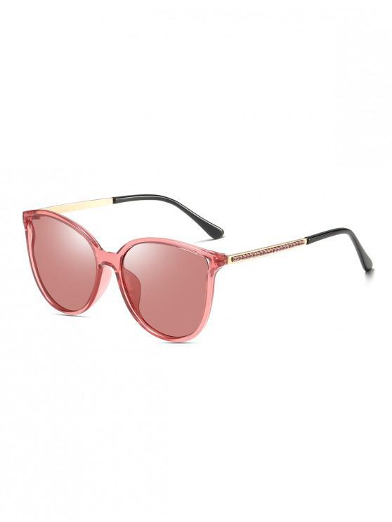 affordable Rhinestone Leg Polarized Sunglasses - WATERMELON PINK