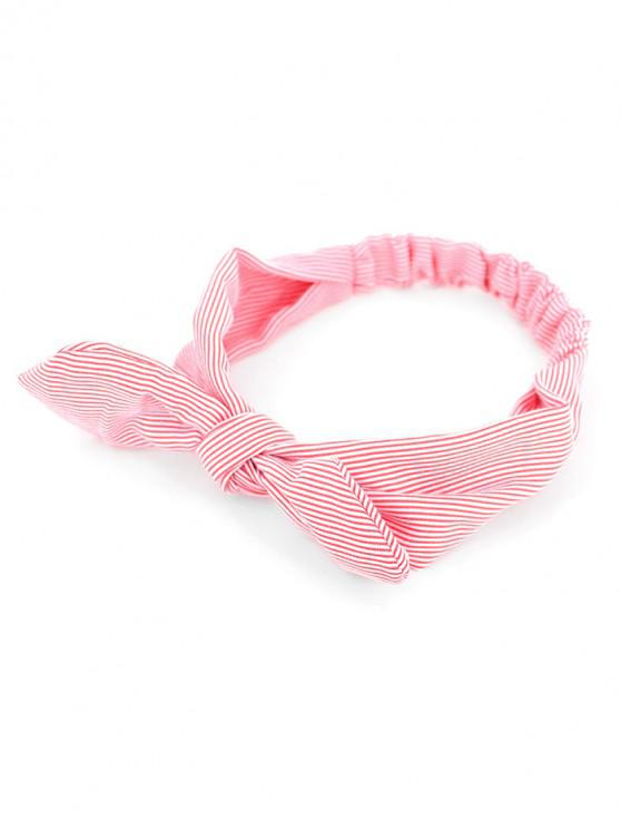shops Bow Striped Stretchy Headband - RED