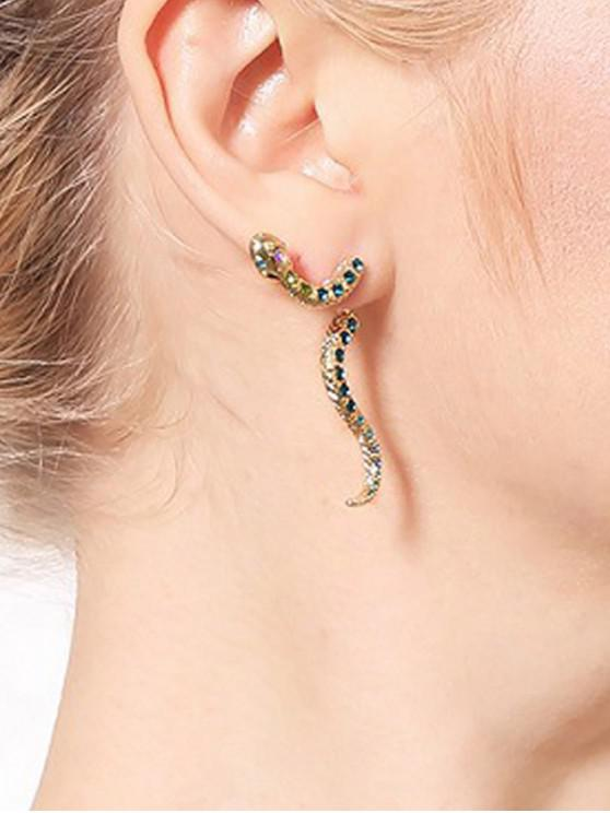 ladies Personality Snake Stud Earrings - GOLD
