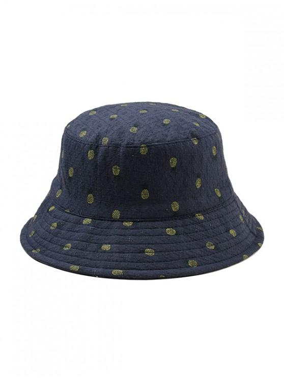 Sombrero del cubo del ocio de la impresión de la piña - Cadetblue