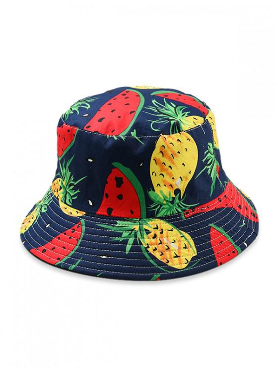Sombrero del cubo del modelo de la fruta - Rojo