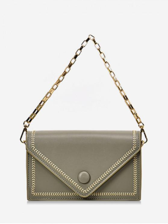 outfits Chain Simple Solid Square Shoulder Bag - DARK SEA GREEN
