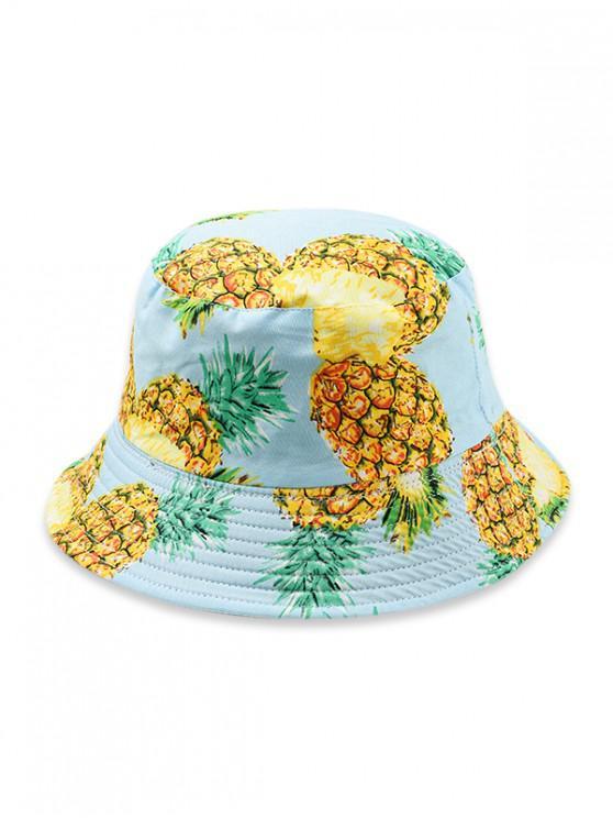 Sombrero del cubo del modelo de la fruta - Azul Claro