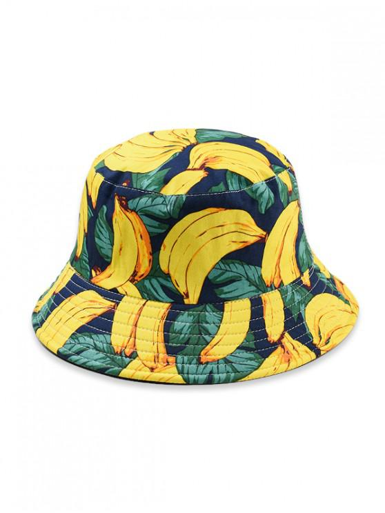 women Fruit Pattern Bucket Hat - YELLOW
