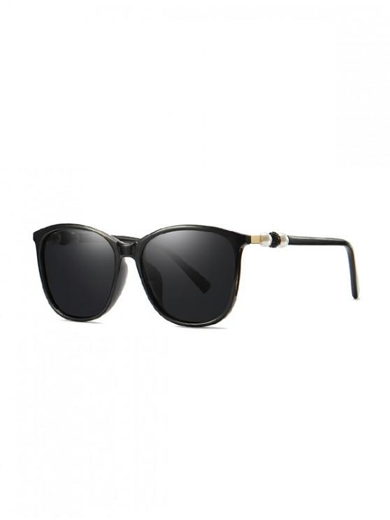 new Faux Pearl Design Outdoor Sunglasses - BLACK
