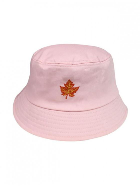 2d8b72058 Maple Leaf Embroidery Bucket Hat BLACK PINK WHITE YELLOW