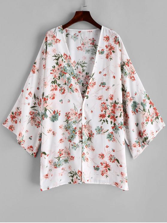 Blume- Langline- Kimono- Vertuschung - Multi-A Eine Größe