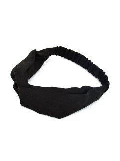 Solid Color Decoration Elastic Headband - Black