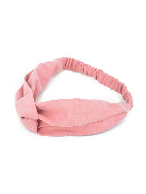 Bandeau Eastique Décoration en Couleur Unie - Rose   Mobile