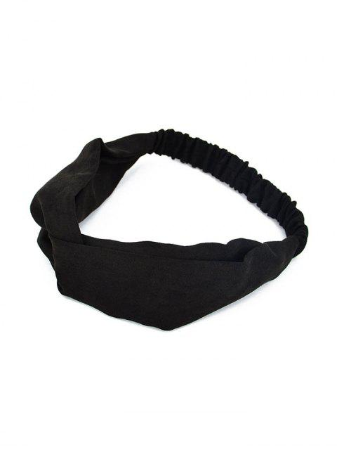 new Solid Color Decoration Elastic Headband - BLACK  Mobile