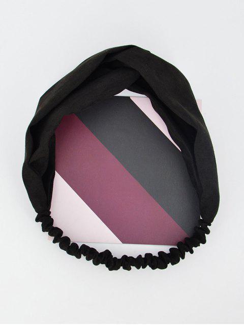 Einfarbige Dekoration- Elastisches Stirnband - Schwarz  Mobile