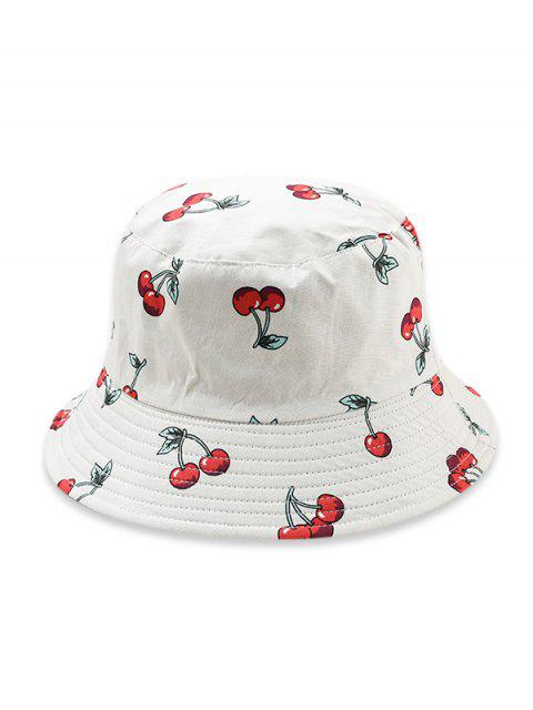 Шляпа Принт фрукта - Белый  Mobile