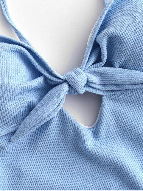 ZAFUL מצולע Tied מקשה אחת בגד ים - יום שמיים כחולים L Mobile