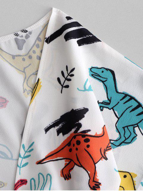 Haut Court Dinosaure Noué en Avant et de Short - Blanc L Mobile