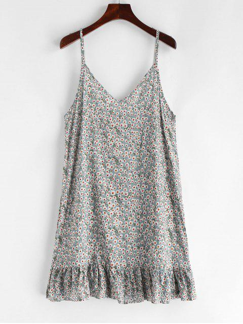 best Ruffles Tiny Floral Print Cami Dress - MULTI-A S Mobile