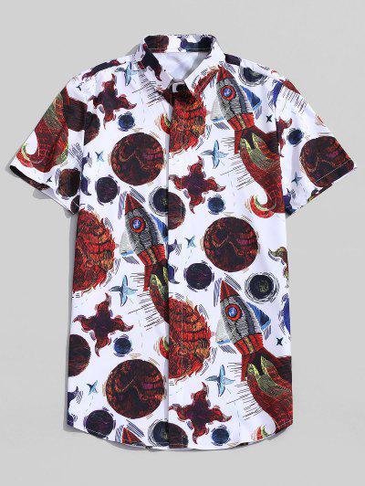Abstract Fish Graphic Print Shirt