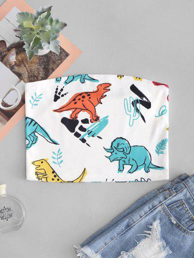 Cute Dinosaur Print Bandeau Top
