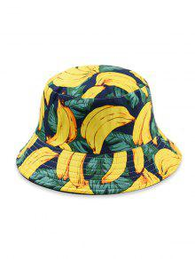 قبعة دلو نمط الفاكهة - الأصفر