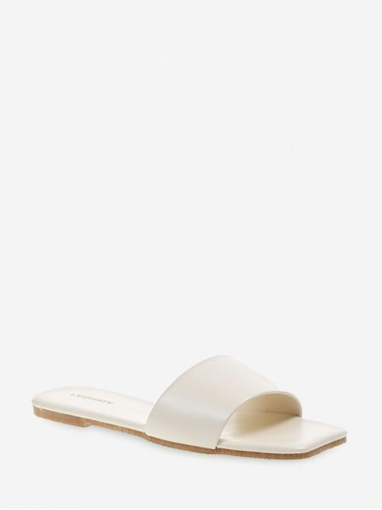 hot Simple Design Solid Color Slippers - WHITE EU 38