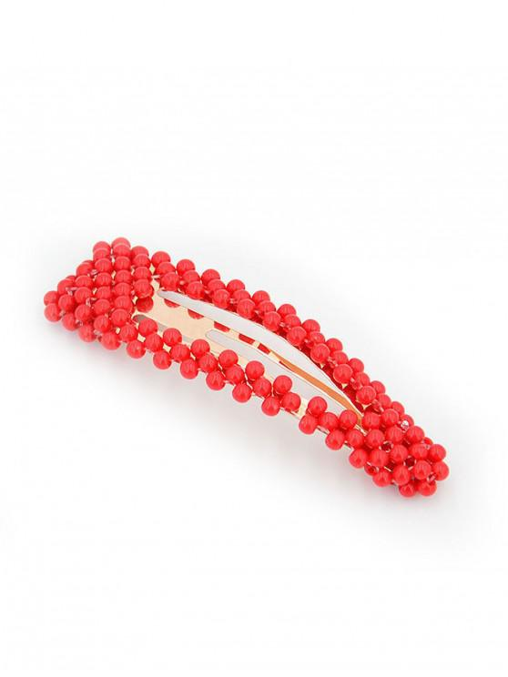 fancy Plastic Pearl Hair Clip - MULTI-B