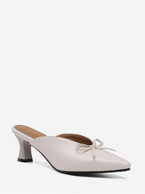 shops Bowknot Design Chunky Heel Sandals - WARM WHITE EU 35