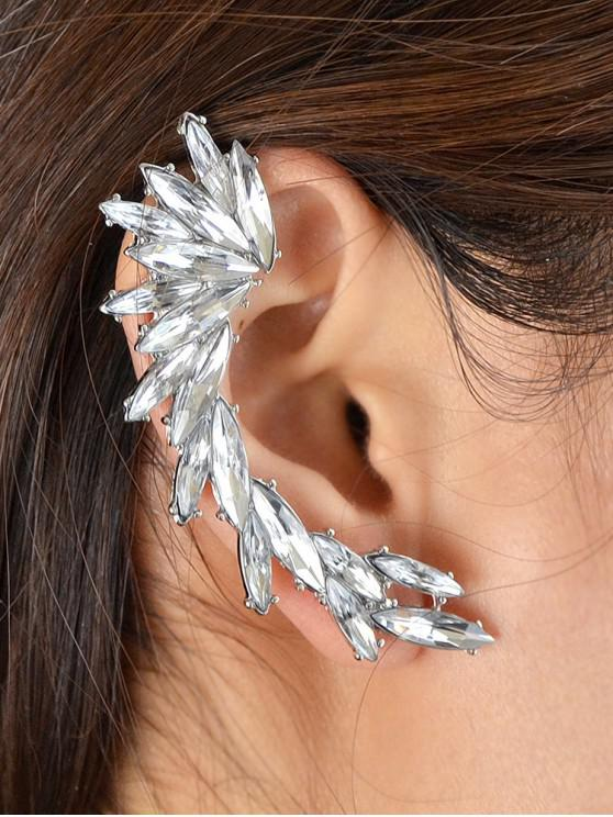 women's Rhinestone Wing Ear Cuff - SILVER