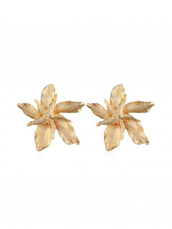 Boucles d'Oreilles Fleuries en Alliage - Or