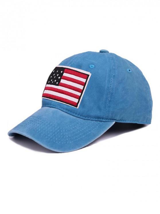 womens American Flag Pattern Baseball Cap - DEEP SKY BLUE