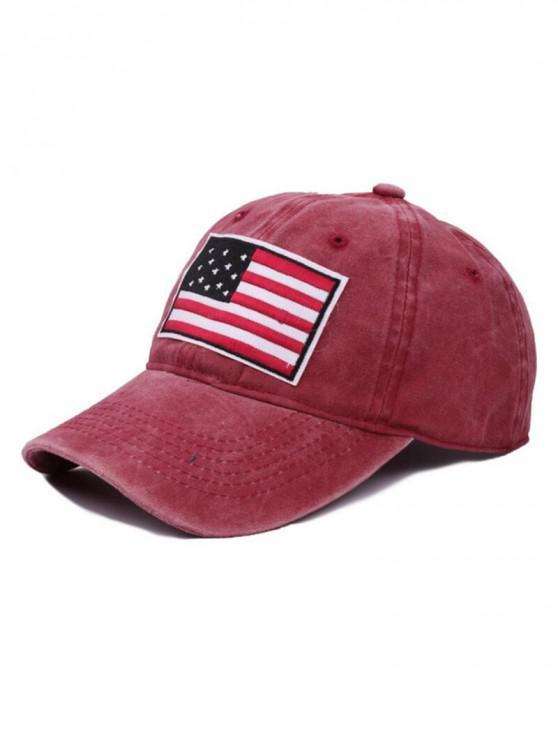 Gorra de béisbol de bandera americana - Rojo de Valentín