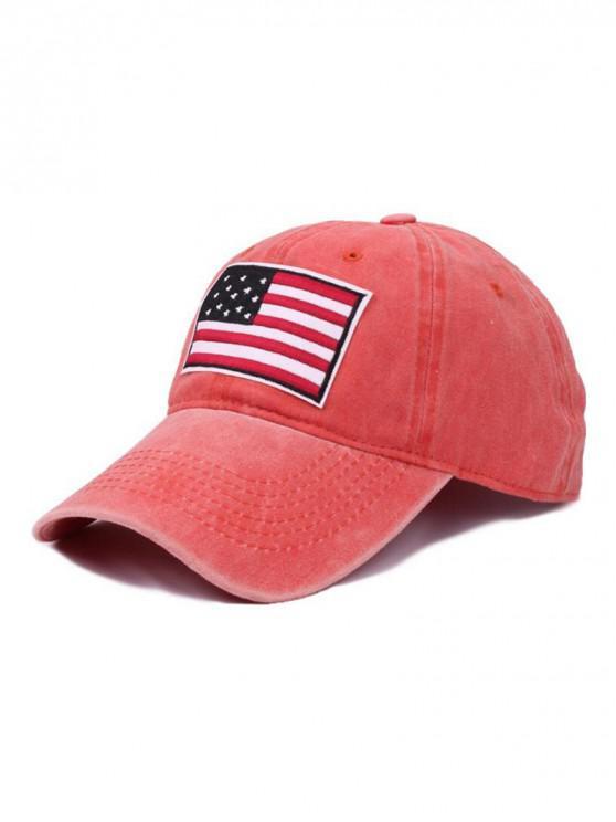 shop American Flag Pattern Baseball Cap - SUNRISE ORANGE