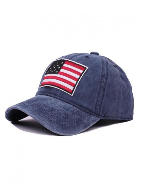 Gorra de béisbol de bandera americana - Azul Pizarra