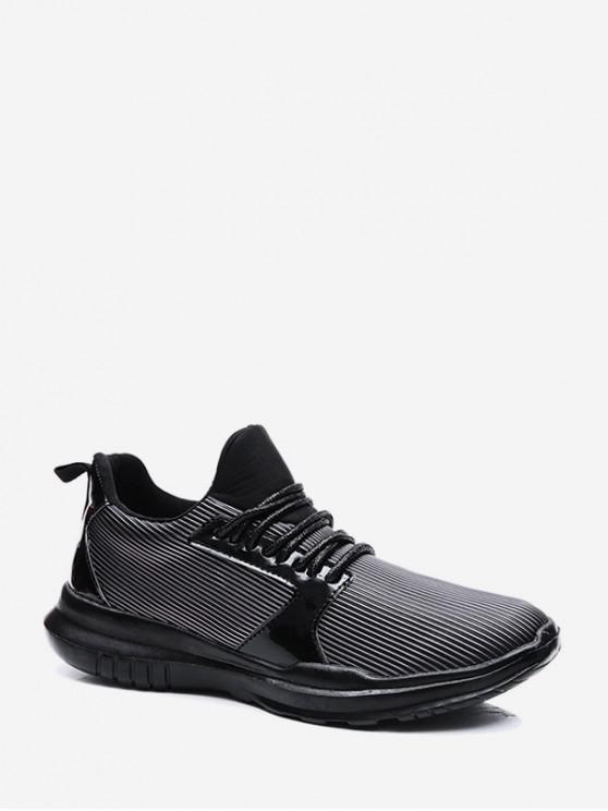 hot Lace-up Decoration Casual Sport Shoes - BLACK EU 38