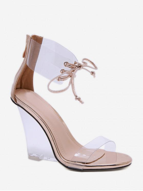 01d9c069c3 37% OFF] [NEW] 2019 Casual Transparent Wedge Heel Sandals In GOLD ...