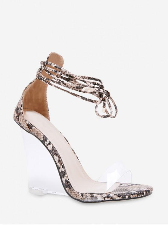 2e84626e31 37% OFF] [NEW] 2019 Animal Print Transparent Wedge Heel Sandals In ...