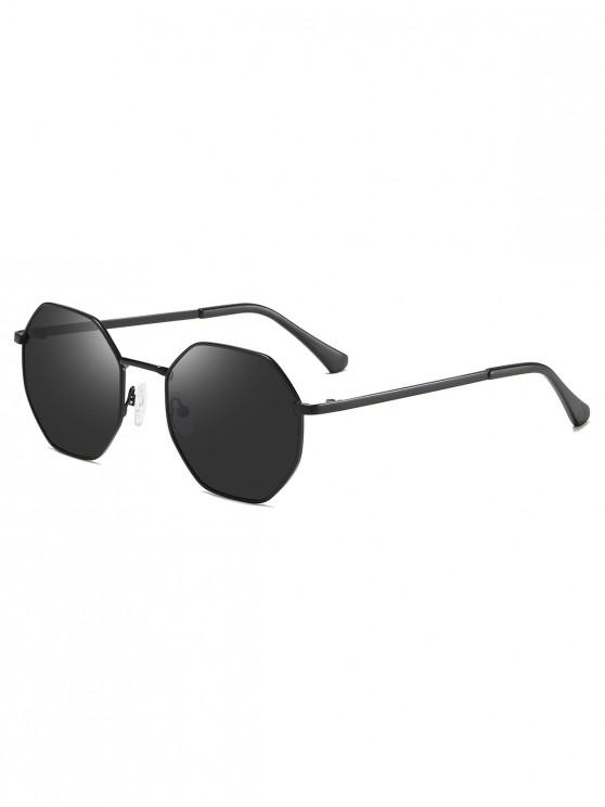 Gafas de sol irregulares de metal anti UV - Negro