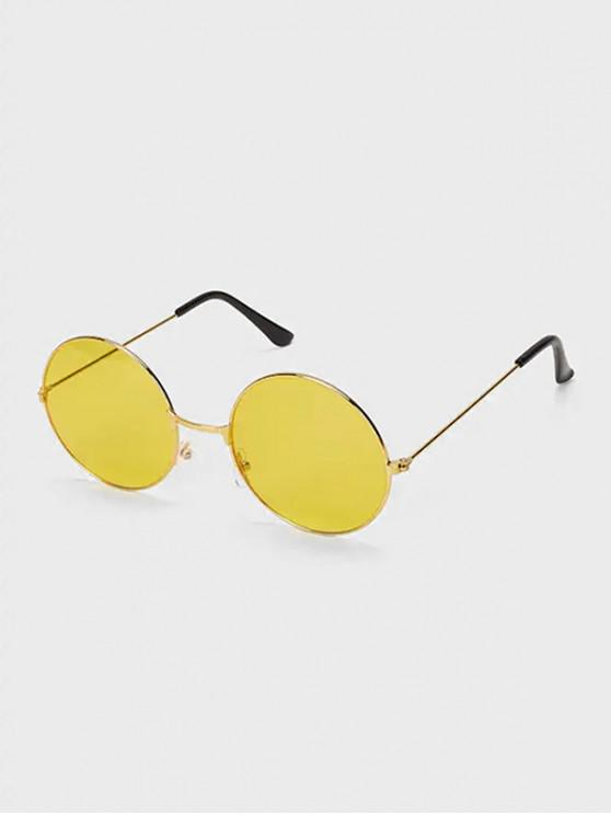 fancy Round Driver Polarized Sunglasses - YELLOW