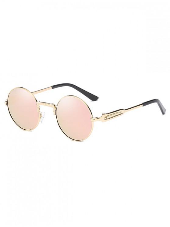 womens Metal Round Polarized Sunglasses - SAKURA PINK