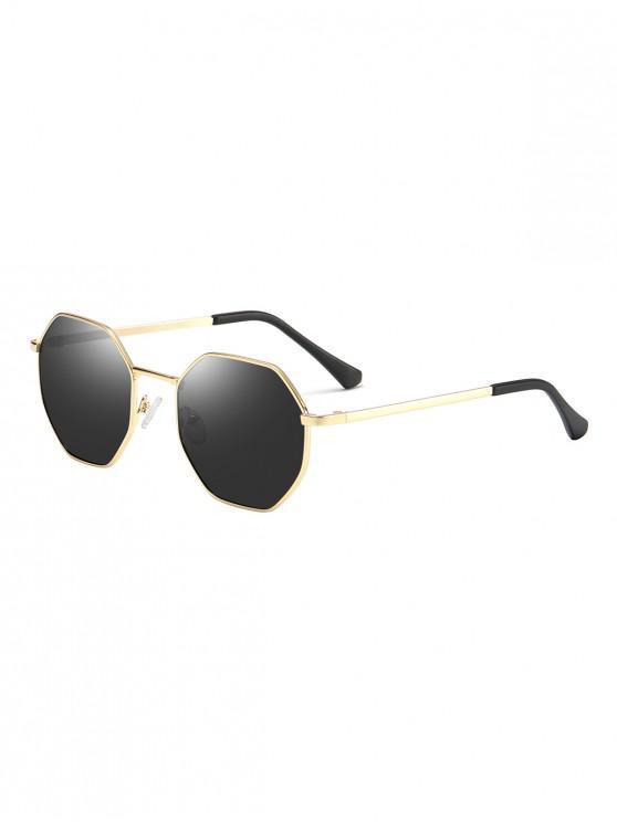 latest Anti UV Irregular Metal Sunglasses - DARK SLATE GREY