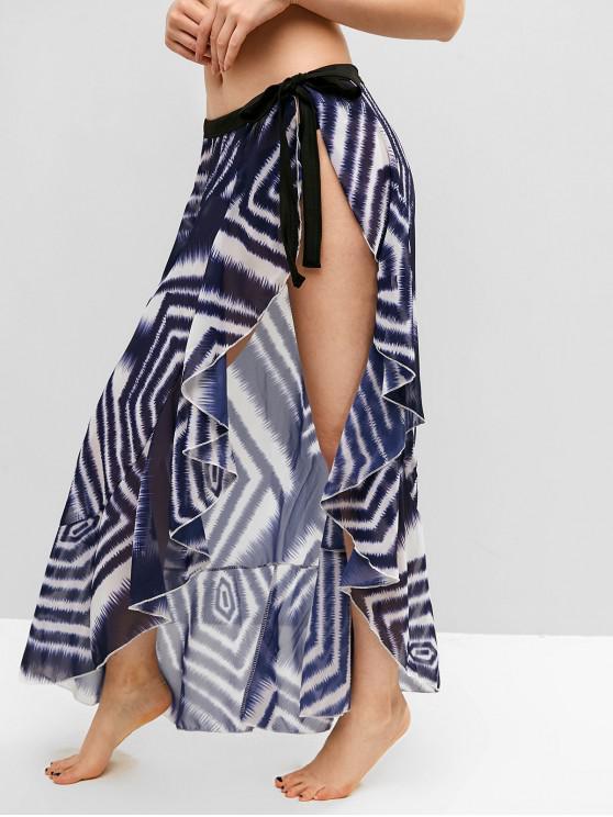 Jupe cache-maillot imprimée mousseline - Multi-A Taille Unique
