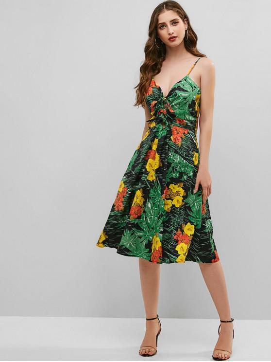 Nós florais Cami A Line Dress - Verde L