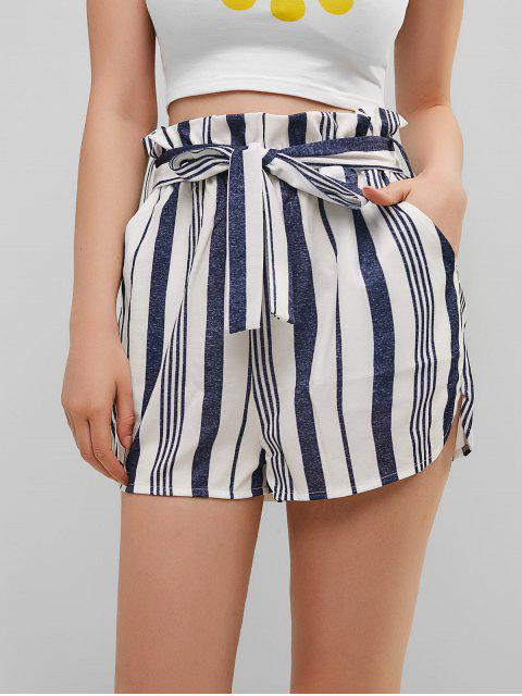 new Belted Stripes Paperbag Shorts - MULTI-B M Mobile