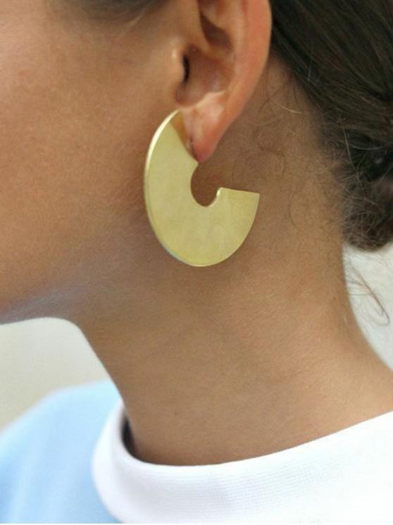 women Punk Wide C Shape Stud Earrings - GOLD