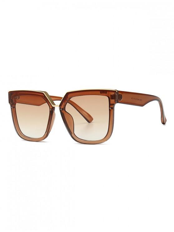 Gafas de sol de forma irregular de gran tamaño retro - Marrón