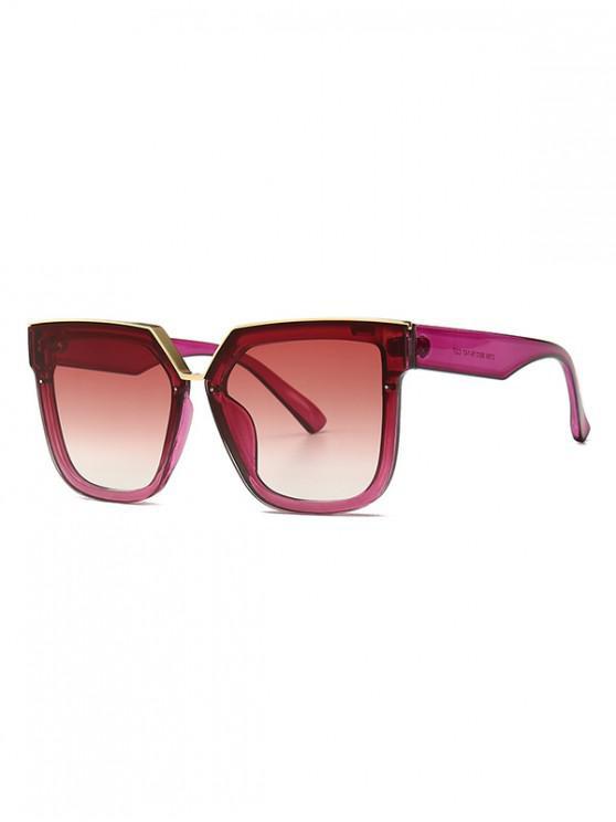 trendy Retro Oversized Irregular Shape Sunglasses - RED